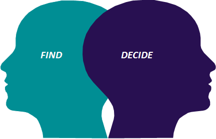 find decide
